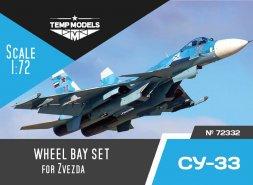 Su-33 wheel bay set for Zvezda 1:72