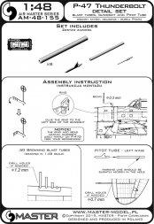 P-47 Thunderbolt - details set 1:48