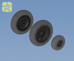 Fw 190 A/F/G/D wheels, late disk Continental tire (no mask) 1:32