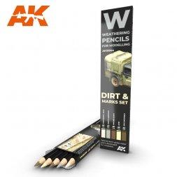 Dirt & Makrs Pencils Set