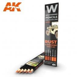 Rust & Streaking Effects Pencils Set