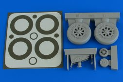 A-1H Skyraider wheels & paint masks 1:32
