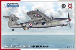Fairey Barracuda Mk. III - ASV Mk. XI Radar 1:72