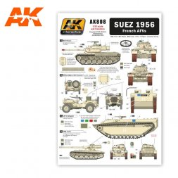 SUEZ 1956 French AFVs Decal 1:35