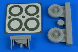 A-1J Skyraider wheels & paint masks 1:32