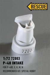 P-40 intake for Special Hobby 1:72