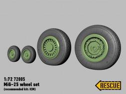 MiG-25 wheels 1:72