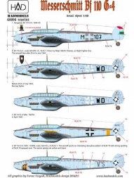 Bf 110G-4 (HU M-107 + 3 Luftwaffet) 1:48
