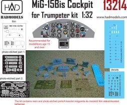 MiG-15bis cockpit for Trumpeter 1:32