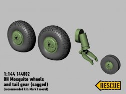 DeHaviland Mosquito wheels set 1:144