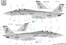 F-14A Tomcat - VF-84 Jolly Rogers (USS NIMITZ) 1:72