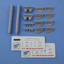AM-39 Exocet anti-ship missile 1:72