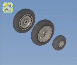 Fw 190 A/F/G/D wheels, late disk Continental 1:72