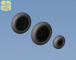 Fw 190 A/F/G wheels, Perforated early main disk 1:48