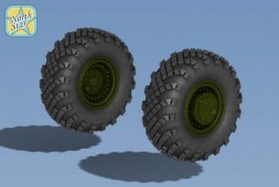 Topol SS-25 Wheels and tyre set. Main hub Type.2 1:72