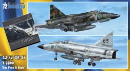 SAAB 37 Viggen Duo Pack & Book 1:72