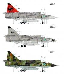 SAAB JA-37 Viggen Fighter 1:72