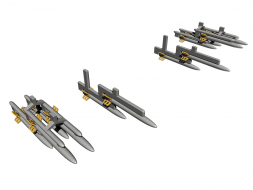 IMI 80mm unguided rockets 1:72