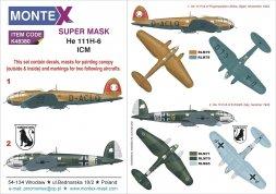 He 111H-6 super mask 1:48