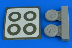 Spitfire Mk.I wheels (with covers) & paint masks 1:48