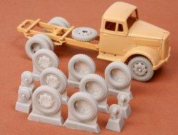 Opel Blitz/ Kfz.385 wheel set (late 8-bolt type) 1:48