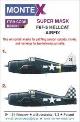 F6F-5 Hellcat super mask for Airfix 1:24