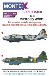 Il-4 super mask for Xuntong Model P.2 1:48