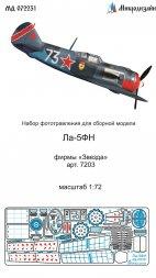 La-5FN detail set for Zvezda 1:72