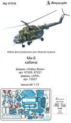 Mil Mi-8 cockpit for Hobby Boss 1:72