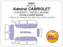 Admiral CABRIOLET mas for ICM 1:35