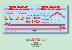 Tupolev Tu-204-100C - DHL 1:144