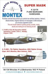 P-40N WARHAWK Super mask for Hasegawa 1:32