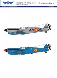 Hispano HA-1112 M1L Spanish Air Force decal 1:32