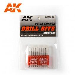 Drill Bits Set Medium 0.4-1.3mm