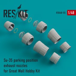 Su-35 exhaust nozzles (parking) for G.W.H 1:48
