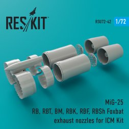 MiG-25RB exhaust nozzles for ICM 1:72