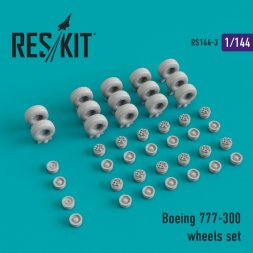 Boeing 777-300 wheels set 1:144