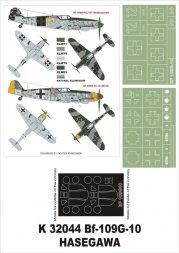 Bf 109G-10 super mask for Hasegawa 1:32