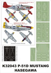 P-51D Mustang super mask for Hasegawa 1:32