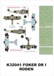 Fokker DR.I super mask for Roden P.2 1:32