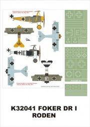 Fokker DR.I super mask for Roden P.1 1:32