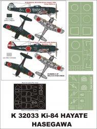 Ki-84 Hayate super mask for Hasegawa P.1 1:32
