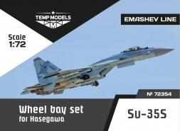 Su-35S wheel bay set for Hasegawa 1:72