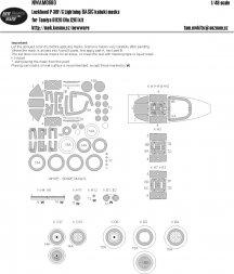 P-38 F/G Lightning BASIC mask for Tamiya 1:48