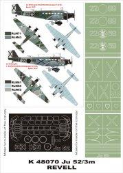 Ju 52/3M G4E super mask for Revell 1:48