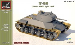 T-50 Soviet WWII light tank 1:72