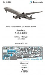 Airbus A350-1000 detail set for Zvezda 1:144