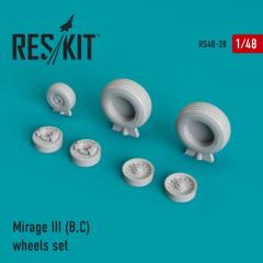 Mirage III (B,C) wheels set 1:48