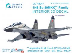 Su-30MKK Interior for Hobby Boss 1:48