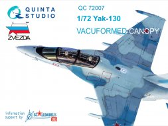 Yak-130 canopy for Zvezda 1:72